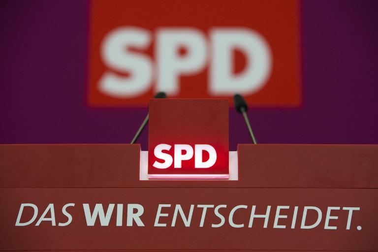 Juso-Chefin fordert Urwahl des SPD-Kanzlerkandidaten (© 2015 AFP)