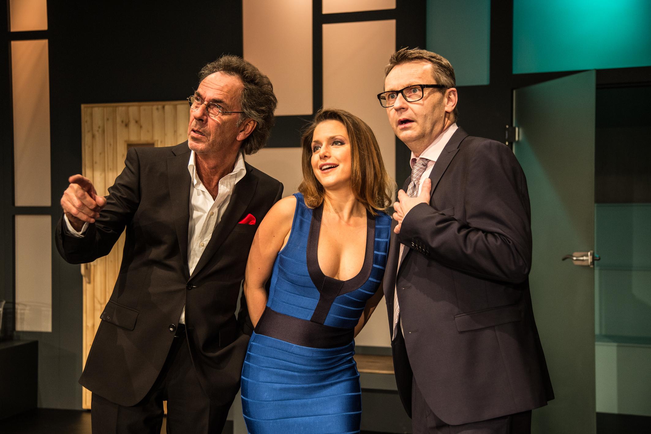 Hugo Egon Balder, Jeanette Biedermann und René Heinersdorff werden am Mittwoch, dem 10.02.2016 in einer Komödie auf der Theaterbühne stehen. (Foto: Presseamt Stadt Erkrath)