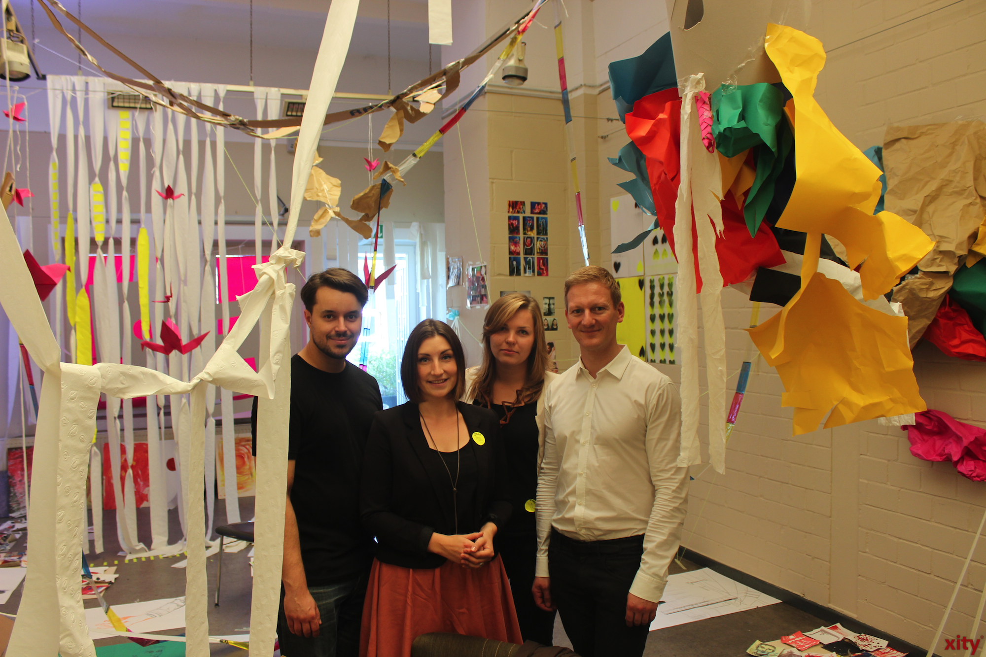 Dennis Palmen, Jennifer Köhler and Agnes Jaraczewski developed the project ARTIG Culturlabor with the help of the Vodafone Stiftung Deutschland(Foto: xity)