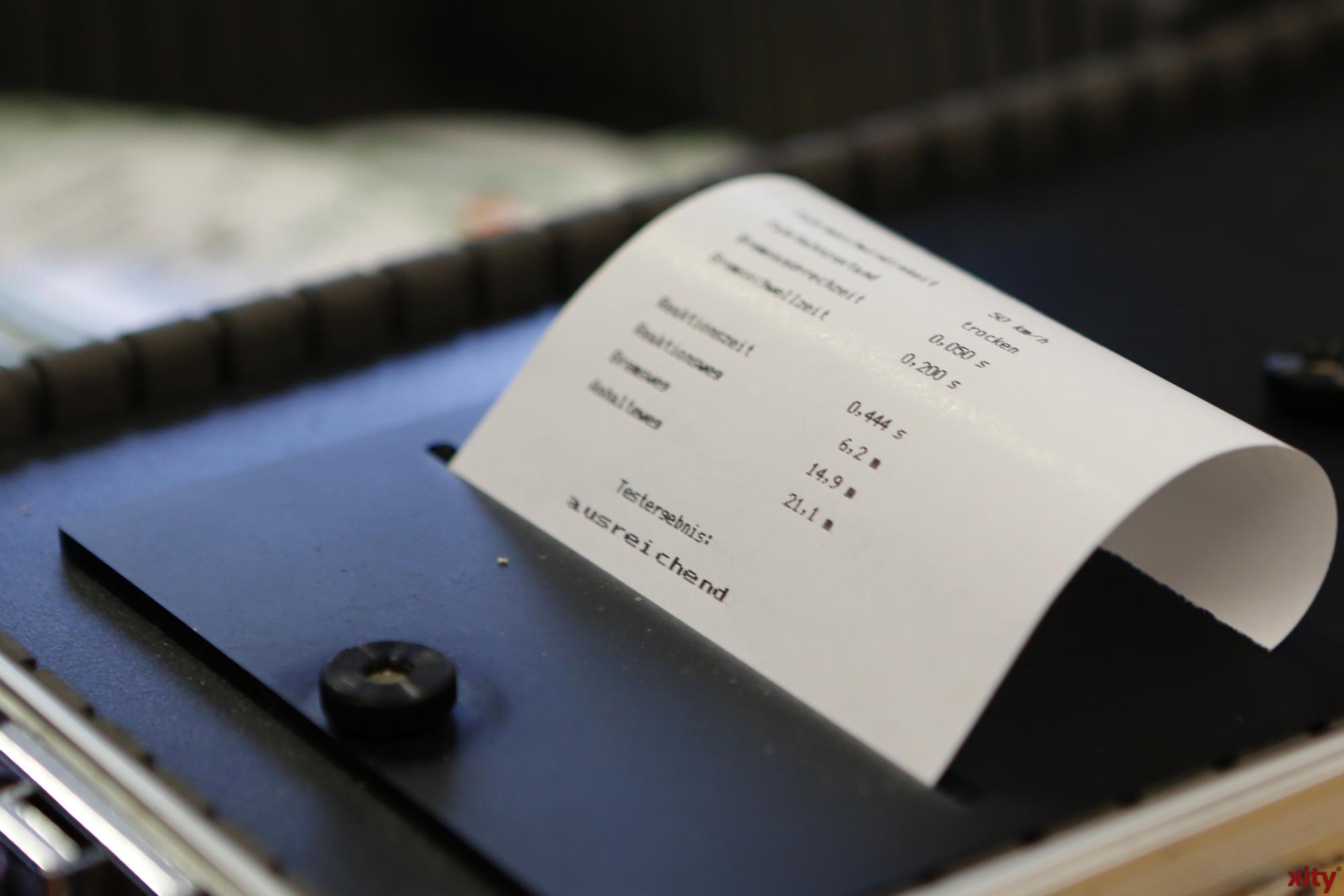 Am Schluss bekommt der Tester seine Ergebnisse (Foto: xity)