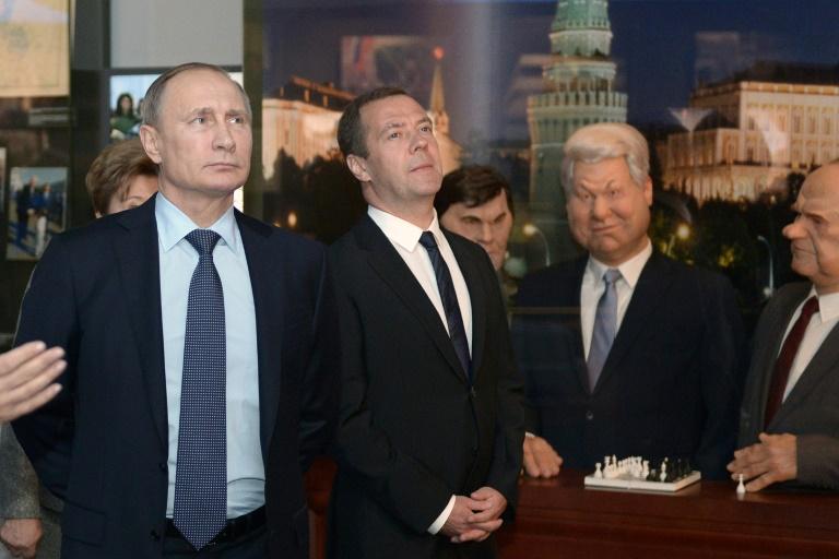 Putin weiht Museum für seinen Vorgänger Jelzin ein (© 2015 AFP)