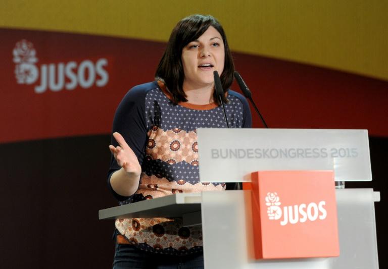 Johanna Uekermann erneut zur Juso-Vorsitzenden gewählt (© 2015 AFP)
