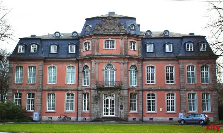Am Goethe-Museum wird derzeit ein Gerüsttreppenturm aufgebaut (Foto: xity)