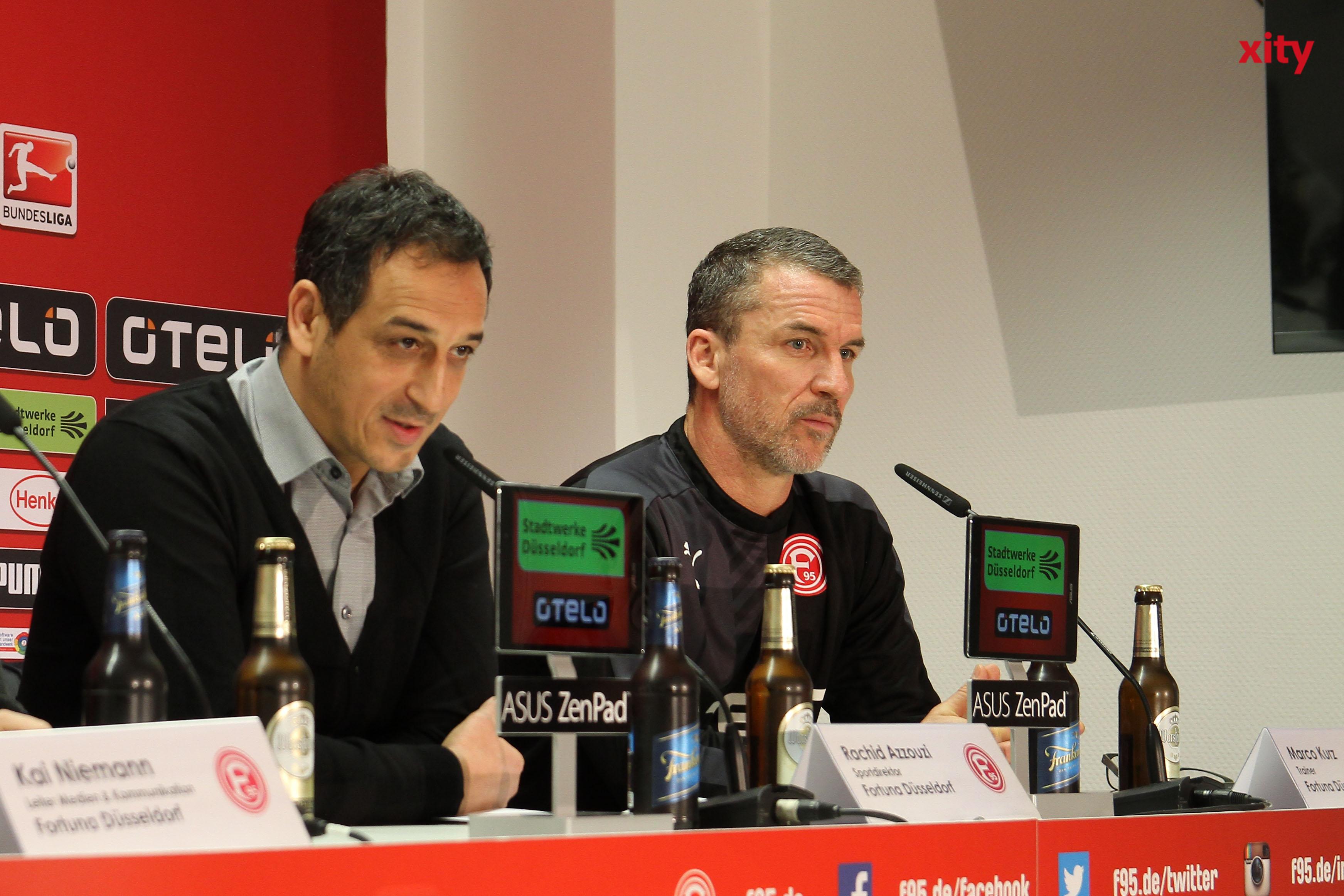 Sportdirektor Hinweis zum Datenschutz bei Google Suchergebnisse Rachid Azzouzi stellte Kurz bei der Pressekonferenz vor (Foto: xity)