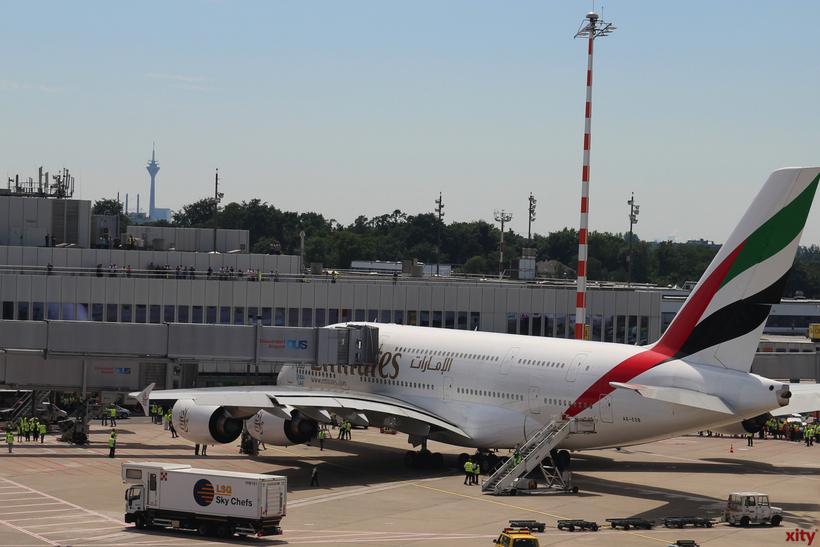 Zweiter Airbus A 380 fliegt Düsseldorf voraussichtlich im Juli an (Foto: xity)