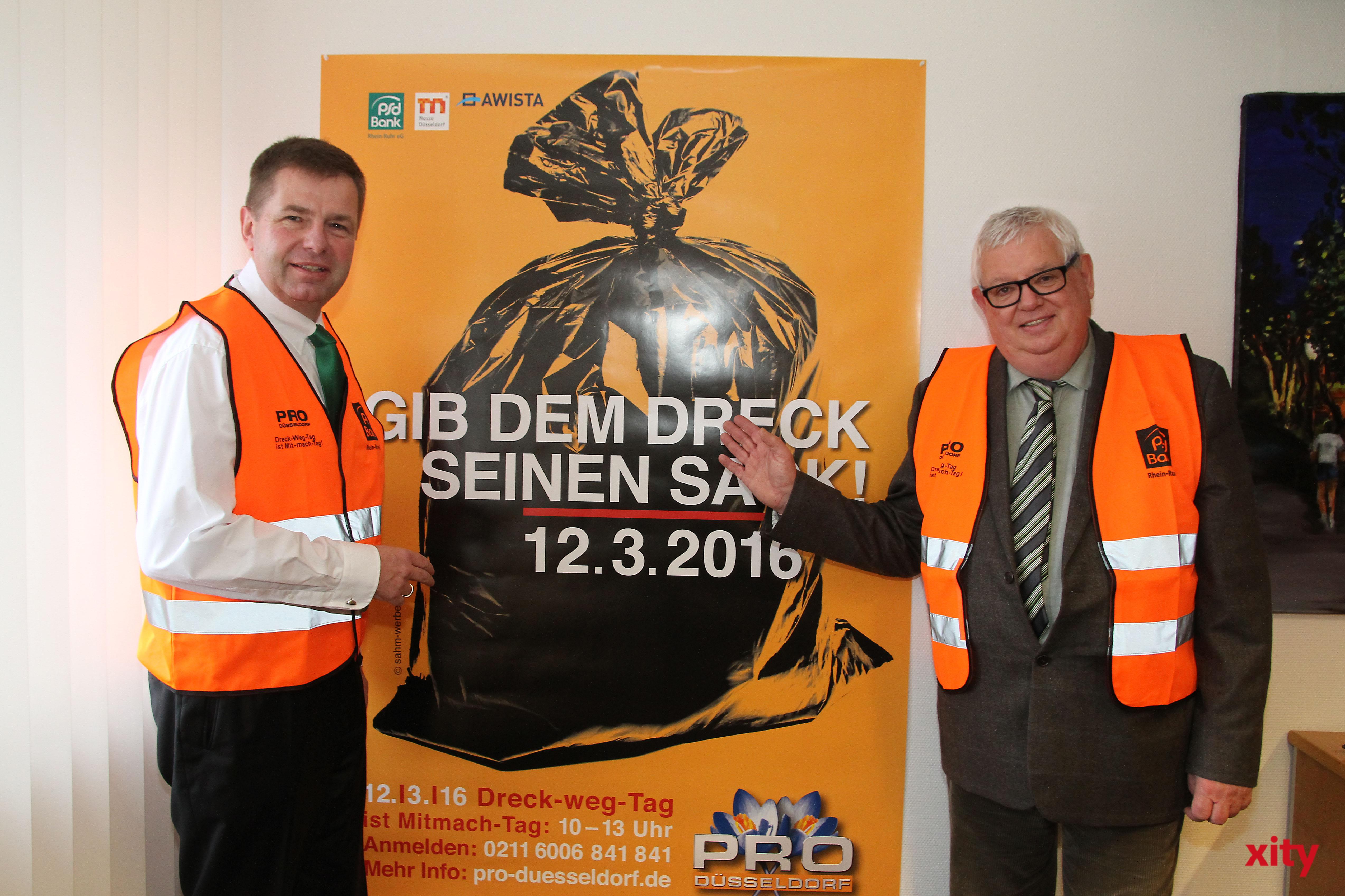 August-Wilhelm Albert, Vorstand der PSD Bank Rhein-Ruhr eG und Pro Düsseldorf-Vorstand, Ingo Lenz (Foto: xity)