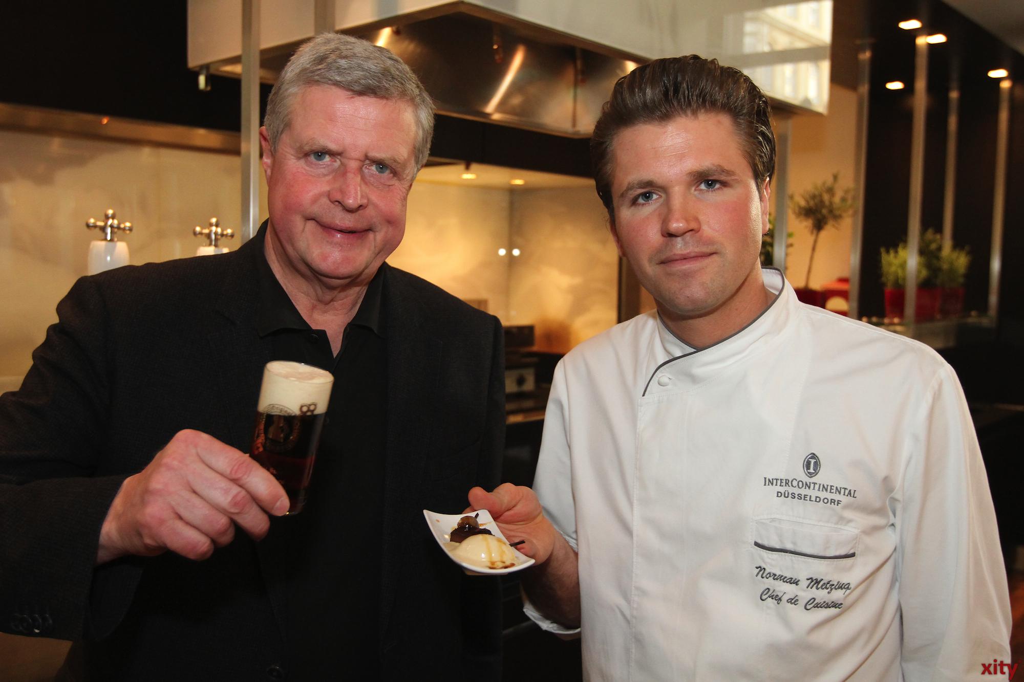 Spitzenkoch und Spitzenbier-Chef (Foto: xity)