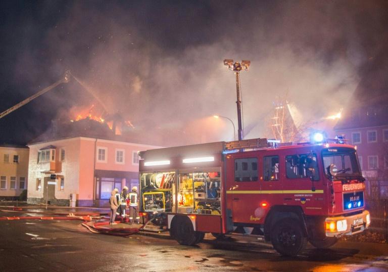 Brand in geplanter Flüchtlingsunterkunft in Bautzen (© 2016 AFP)