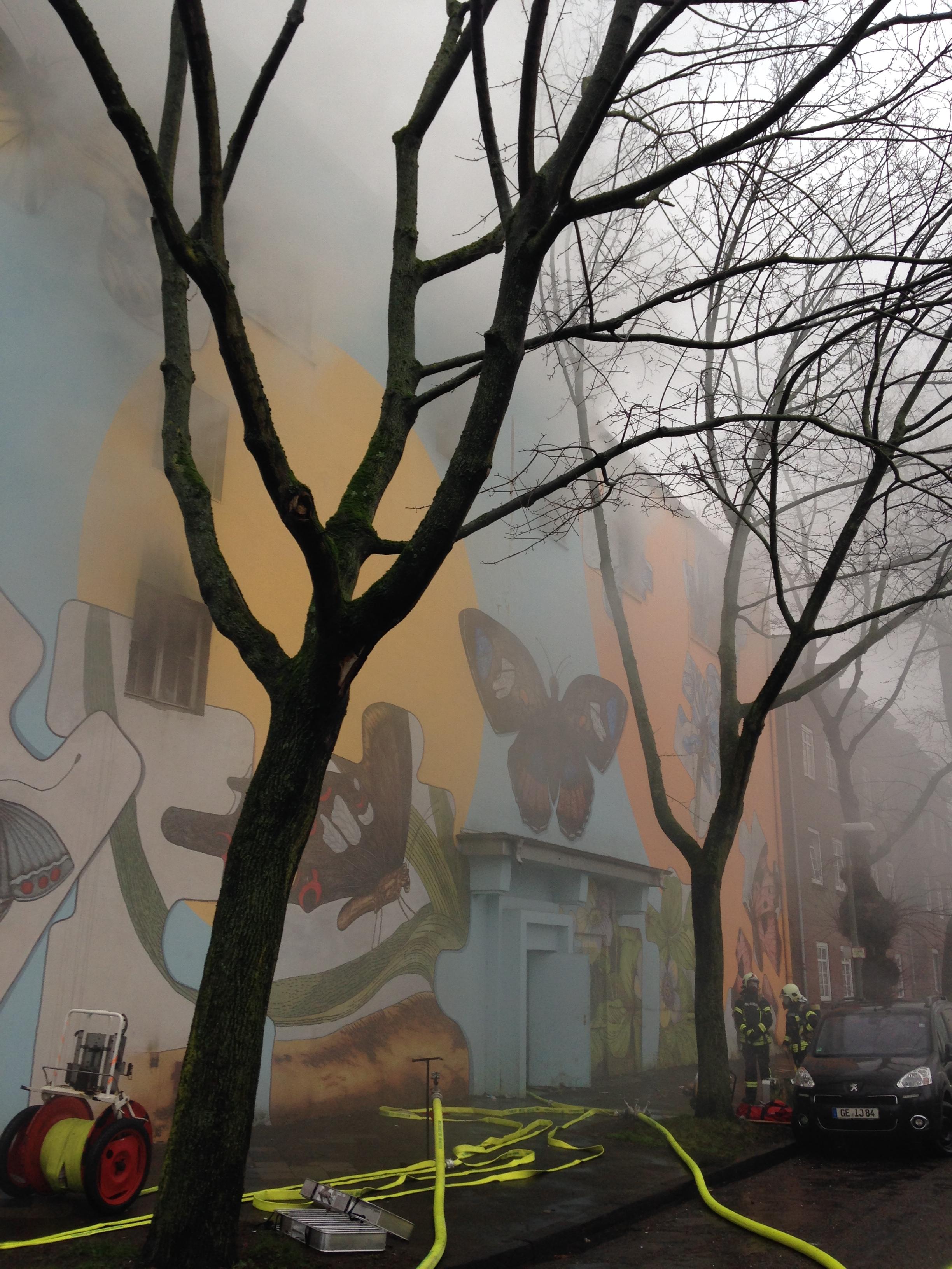 Feuer in altem Bunker sorgt für Großeinsatzder Feuerwehr Gelsenkirchen(Foto: OTS)