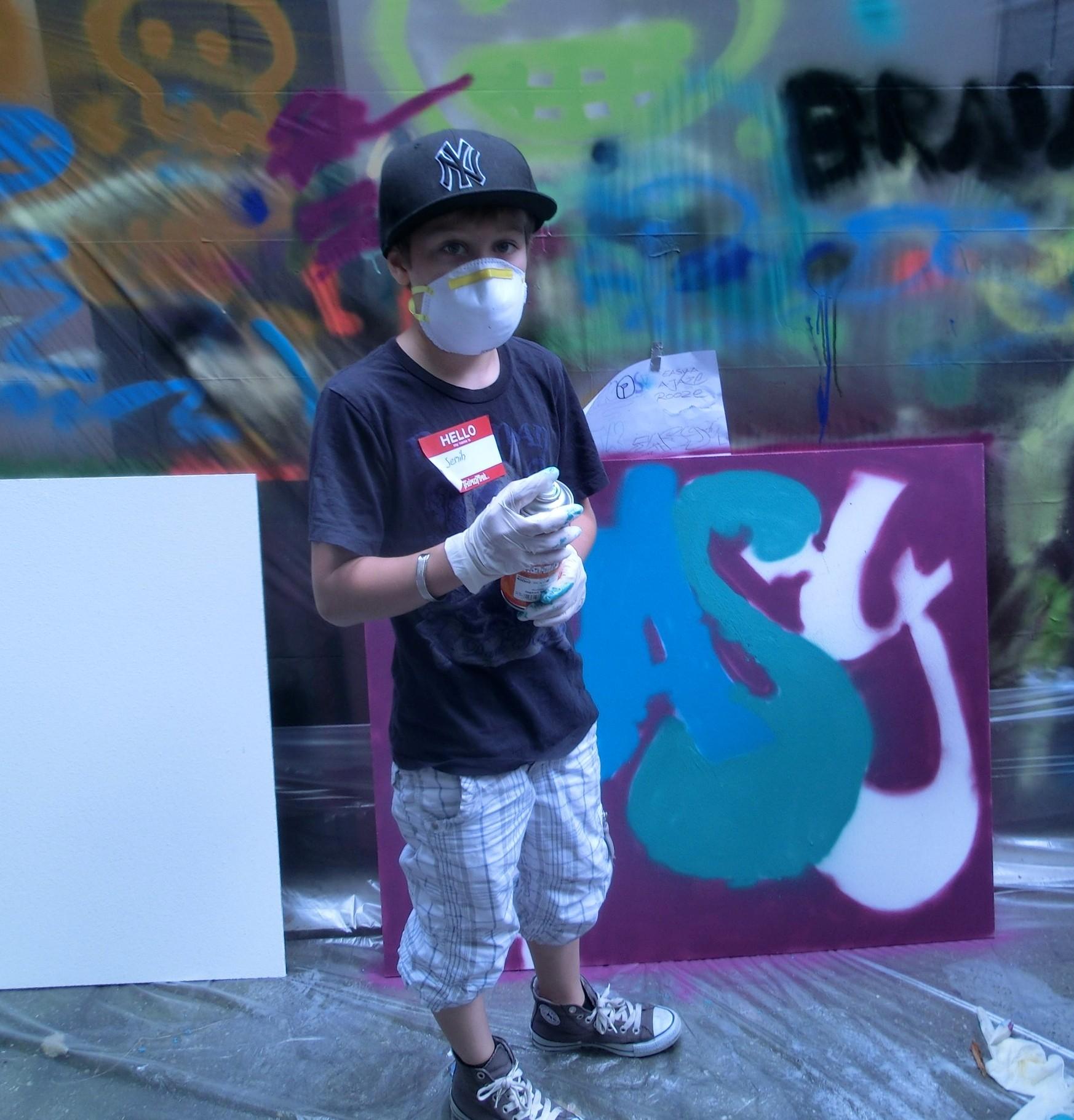 Das Sprayen von Graffiti kann bei einem mehrwöchigen Kurs im Jugendzentrum Hösel erlernt werden (Foto: Stadt Ratingen)