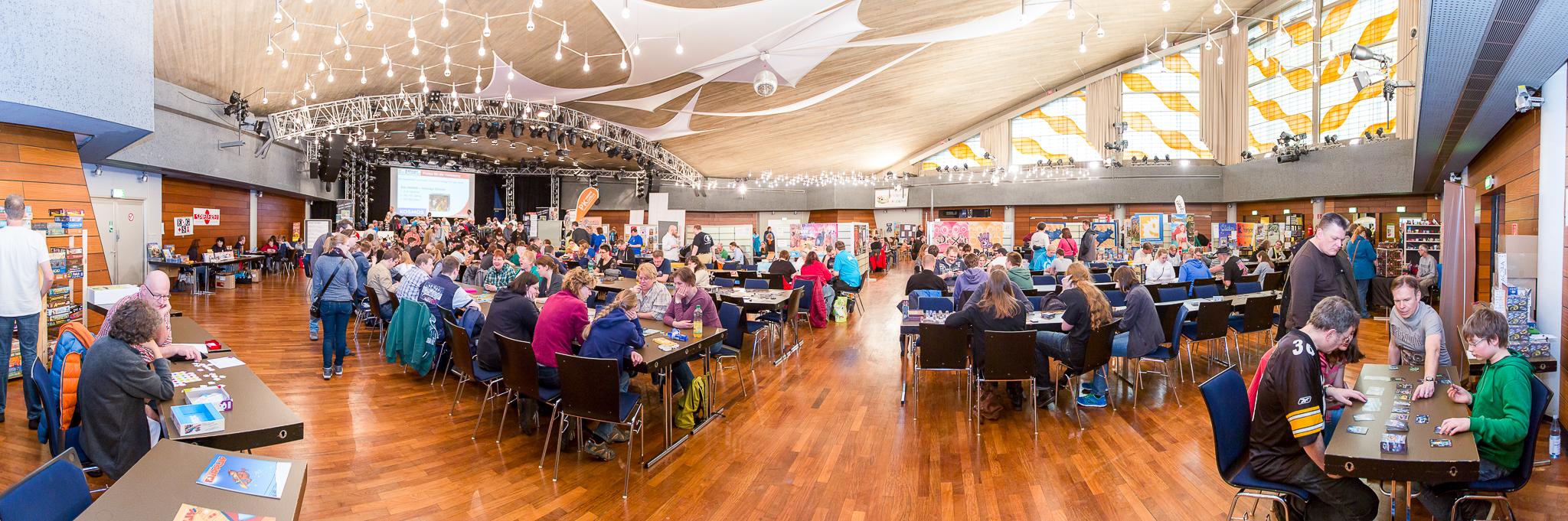 Mit insgesamt 60 Spieleherstellern präsentieren sich so viele Aussteller wie noch nie bei den Spieletagen (Foto: Maik Grabosch)