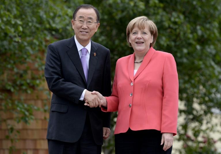 Merkel empfängt UN-Generalsekretär Ban im Kanzleramt (© 2016 AFP)