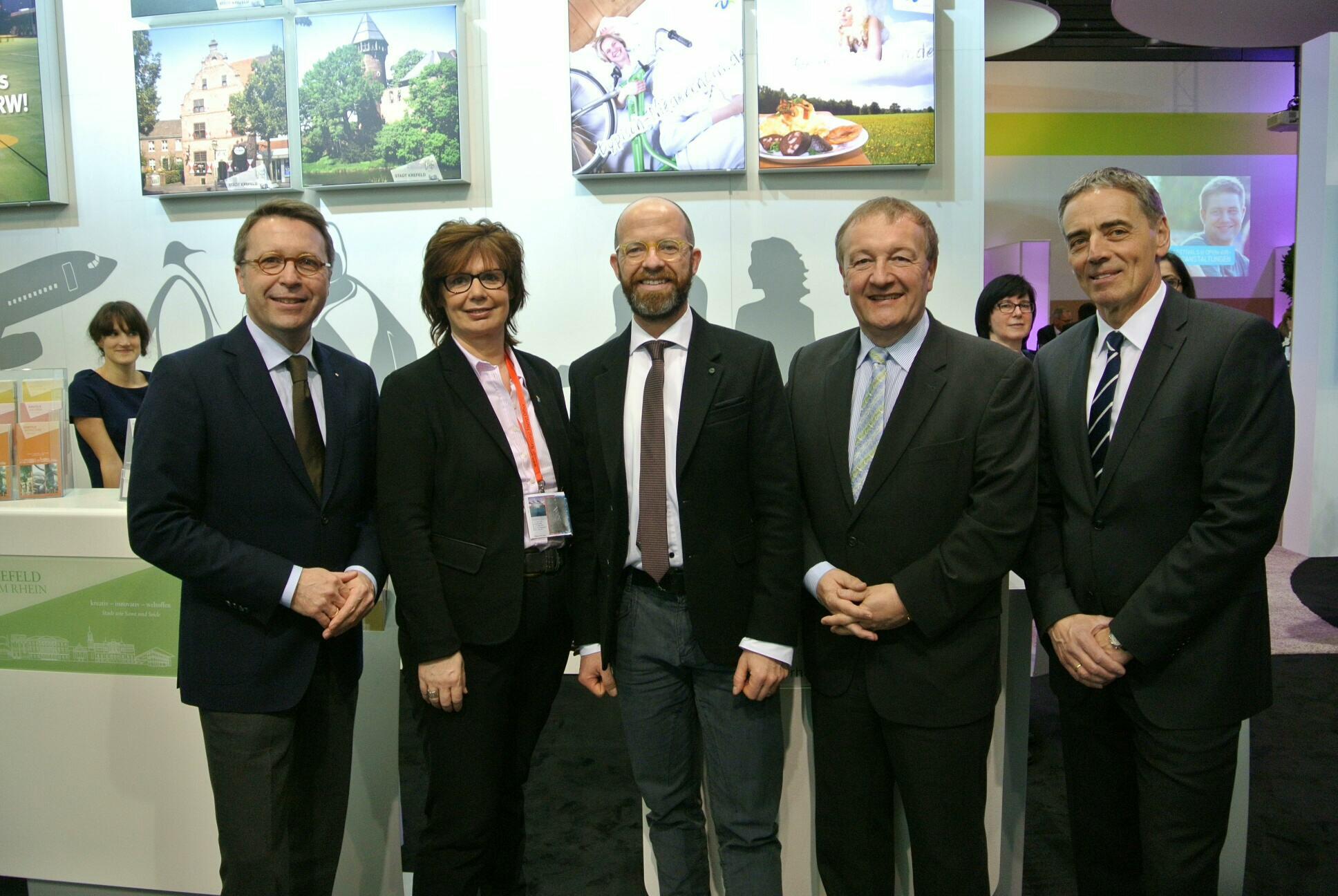 Treffen mit den Gesellschaften der Niederrhein Tourismus GmbH auf der ITB (Foto: Stadt Krefeld)