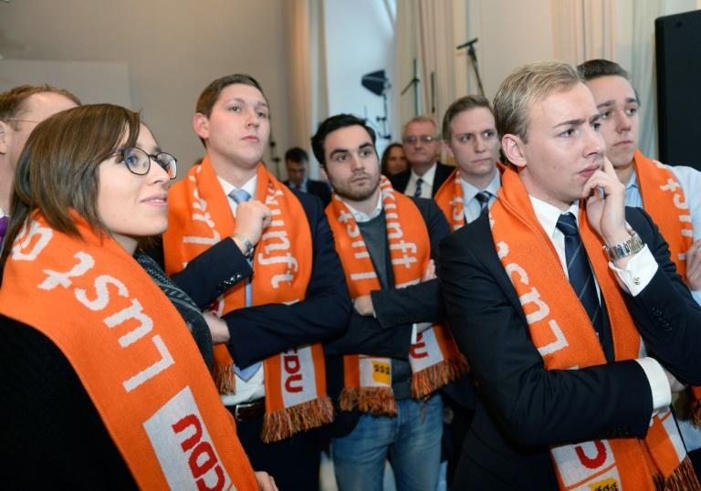 CDU will sich in allen drei Ländern an Koalitionsgesprächen beteiligen (© 2016 AFP)