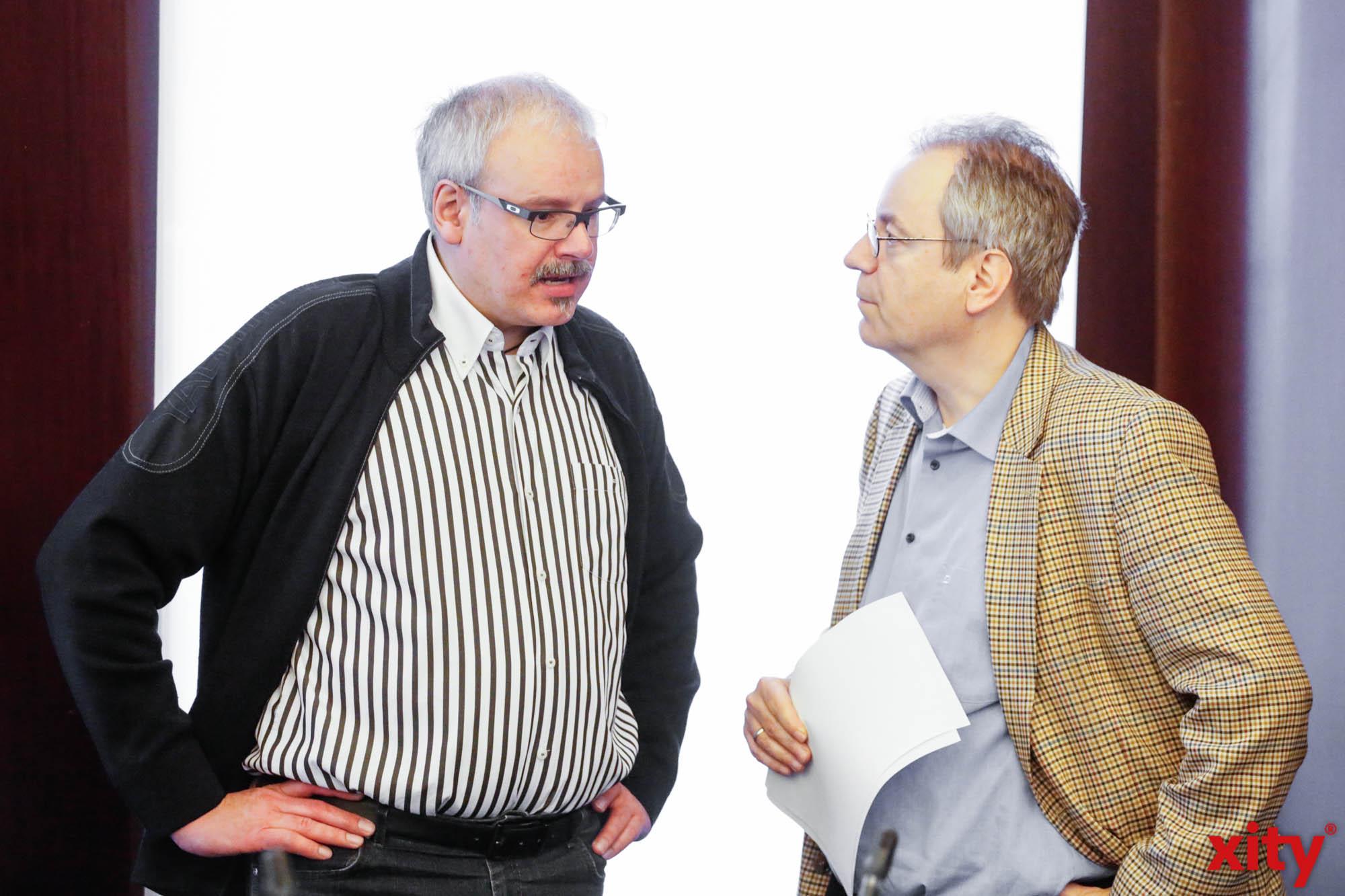 Markus Raub (l.) im Gespräch mit Rüdiger Gutt (Foto: xity)
