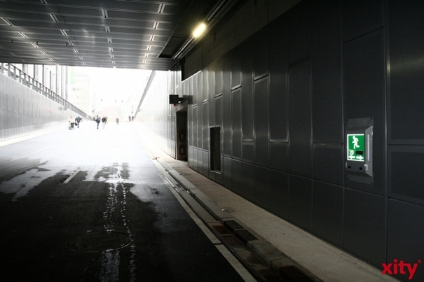 Kö-Bogen-Tunnel: Letzter Schliff für die Fahrbahnen im Nordbereich (Foto: xity)