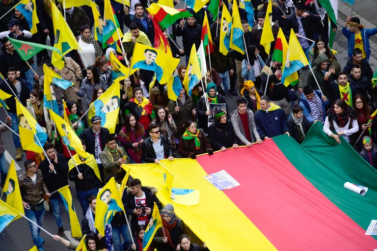 Kurden demonstrieren in Hannover gegen türkische Regierung (© 2016 AFP)