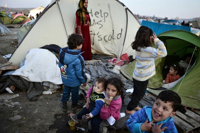 Grüne fordern Aufnahme von Idomeni-Flüchtlingen in Deutschland (© 2016 AFP)