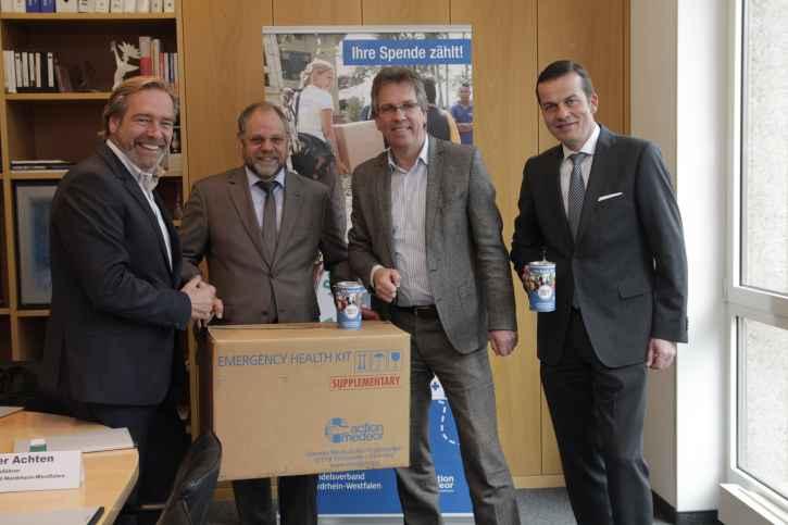 """Unter dem Motto """"Notfall-Pakete für Menschen"""" startet der Handelsverband NRW eine Spendenkampagne zu Gunsten des Medikamentenhilfswerkes action medeor (Foto: action medeor)"""
