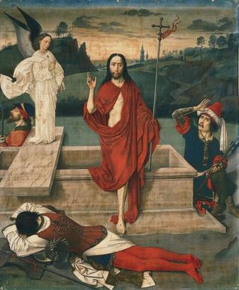 Auferstehung und neuzeitliche Symbolik (Foto: Dierec Bouts)