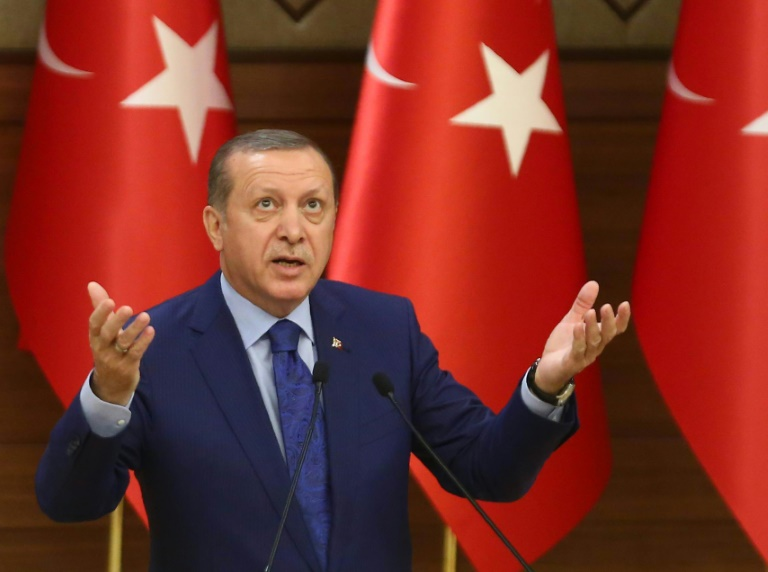 """DJV betrachtet Erdogans Empörung über Satire als """"lächerlich"""" (© 2016 AFP)"""