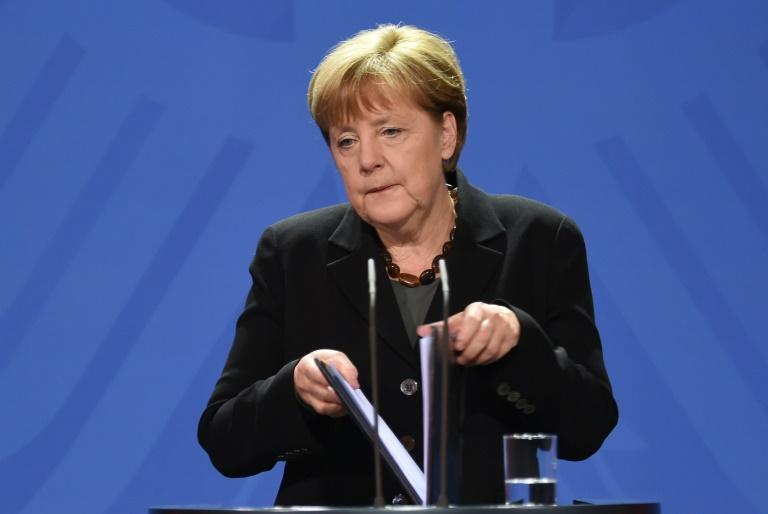 """Merkel würdigt Genschers Einsatz zur """"Überwindung der Unfreiheit"""" (© 2016 AFP)"""