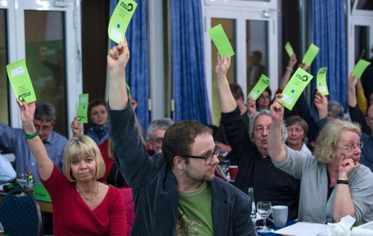 Grüne in Sachsen-Anhalt stimmen für Koalitionsgespräche mit CDU und SPD (© 2016 AFP)