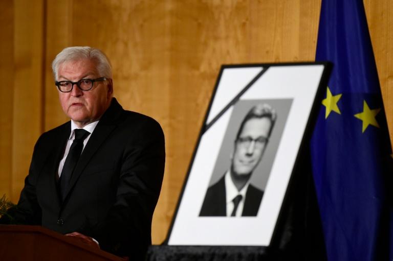 Auswärtiges Amt ehrt früheren Ressortchef Westerwelle (© 2016 AFP)