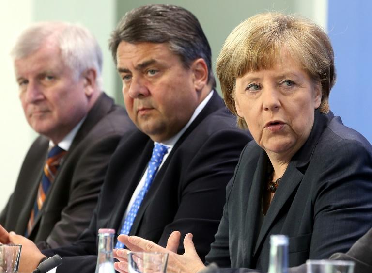 Parteichefs der großen Koalition beraten am Mittwoch im Kanzleramt (© 2016 AFP)