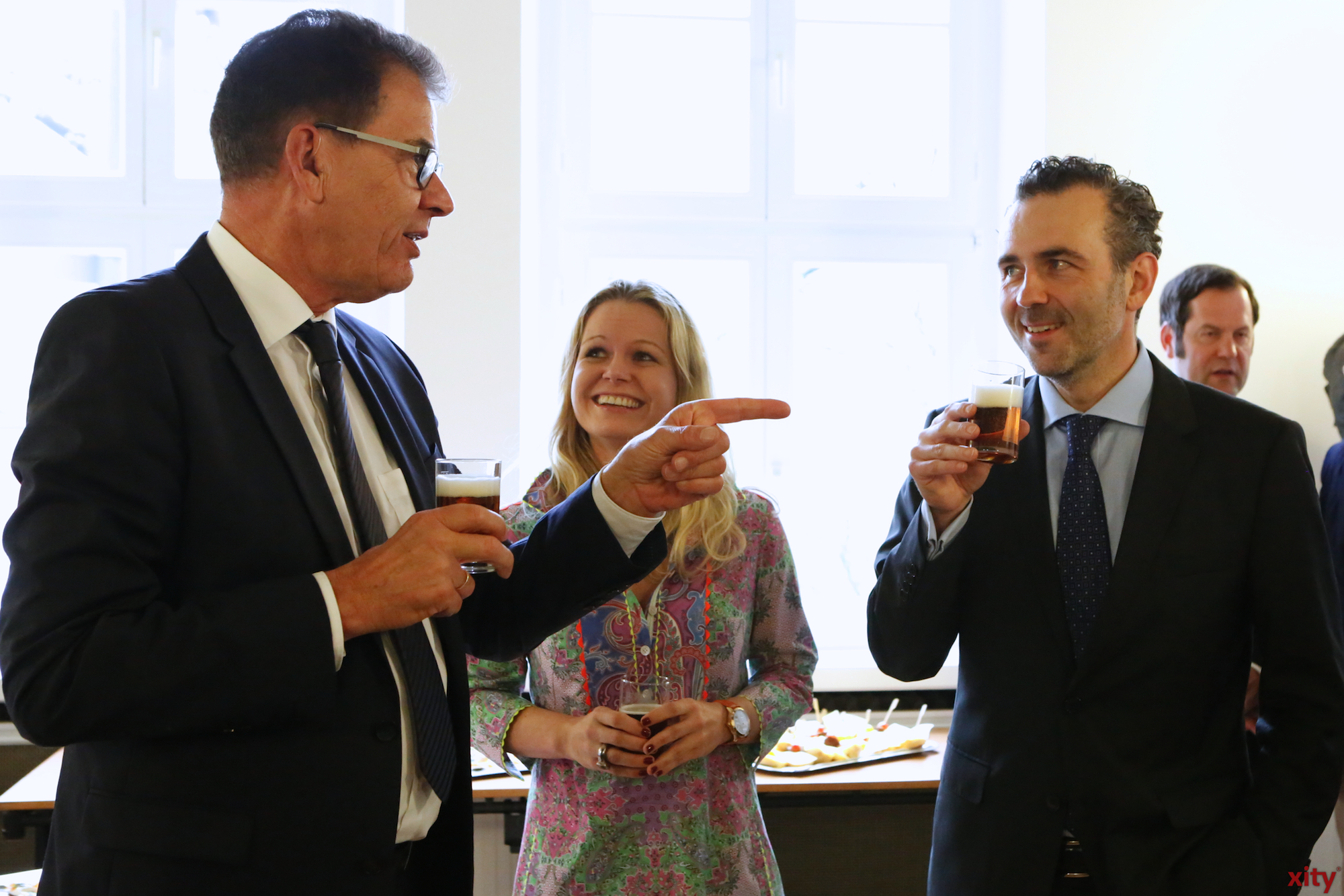 (v.l.) Dr. Gerd Müller, Angela Erwin und Thomas Jarzombek (Foto: xity)