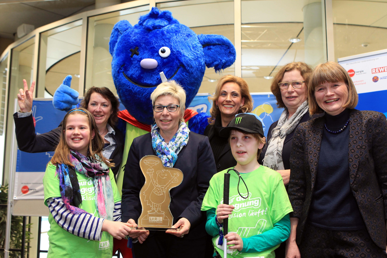 Landtagspräsidentin Carina Gödecke begrüßte gemeinsam mit LVR-Direktorin Ulrike Lubek 280 Schülerinnen und Schüler aus Düsseldorf und Linnich (Foto: Landtag NRW)