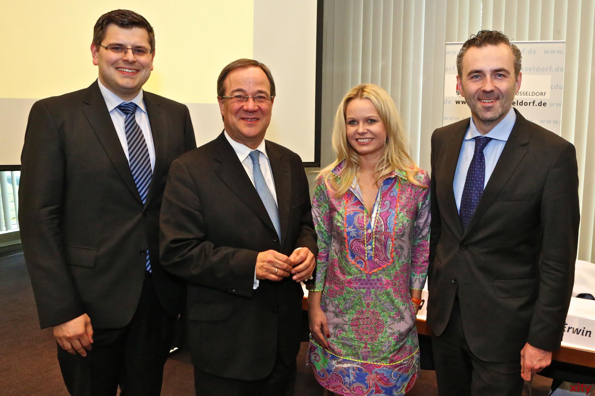 (v.l.) Peter Blumenrath, Armin Laschet, Angela Erwin und Thomas Jarzombek (Foto: xity)