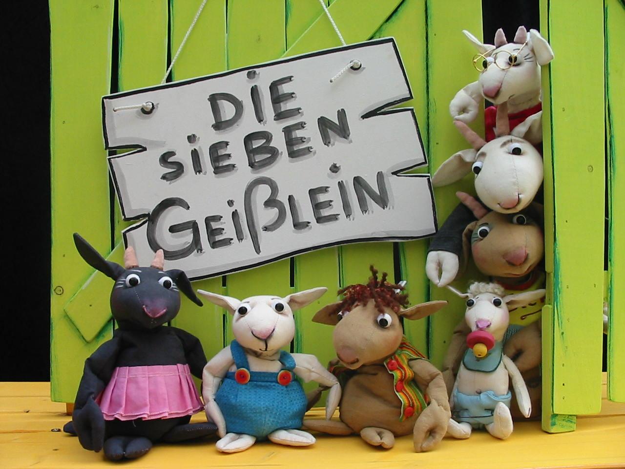 """""""Die sieben Geißlein"""" (Foto: Puppentheater Helmholtzstraße)"""