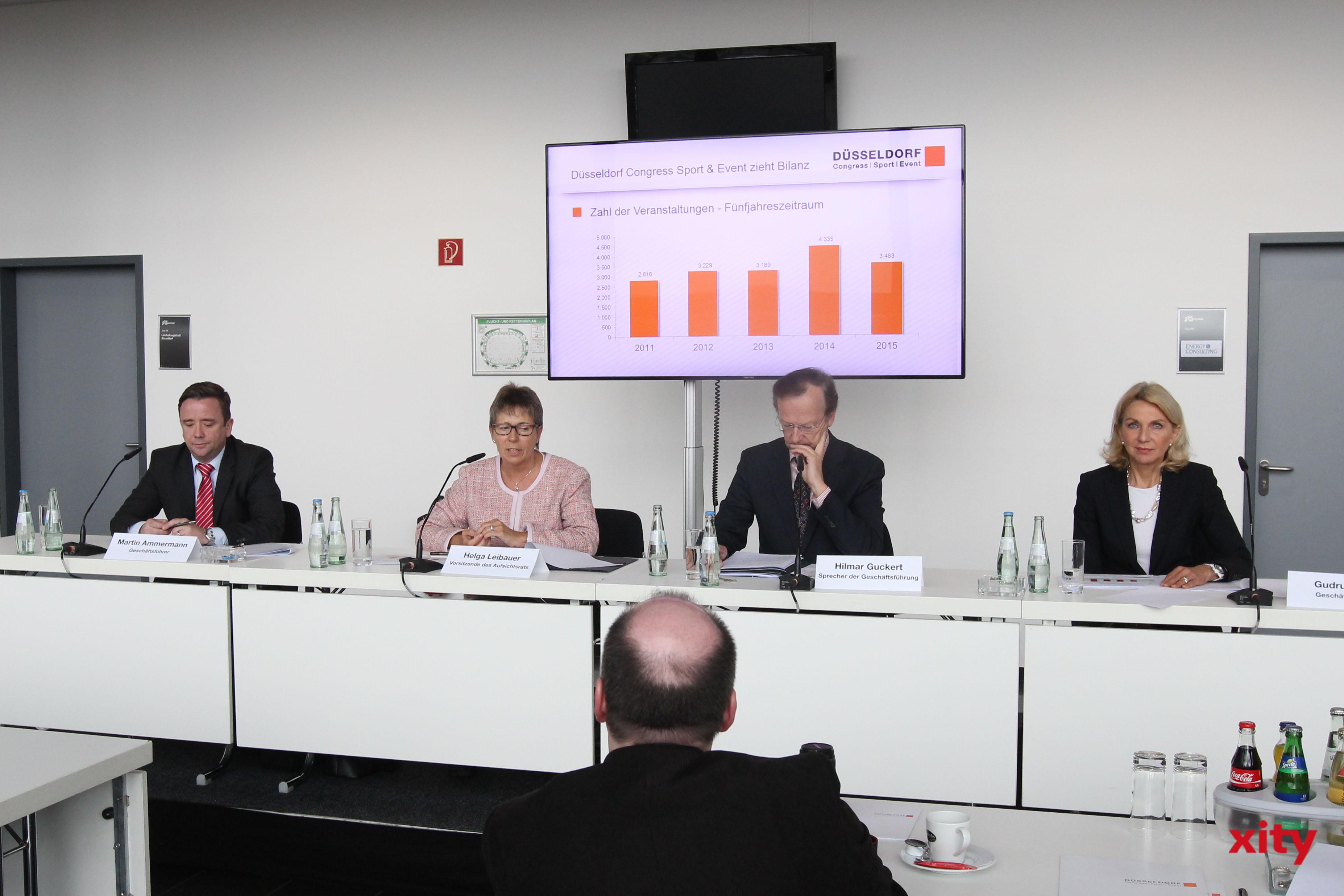 Die Geschäftsführung der Düsseldorf Congress, Sport und Event GmbH gab eine Bilanz zum Jahr 2015 (Foto: xity)