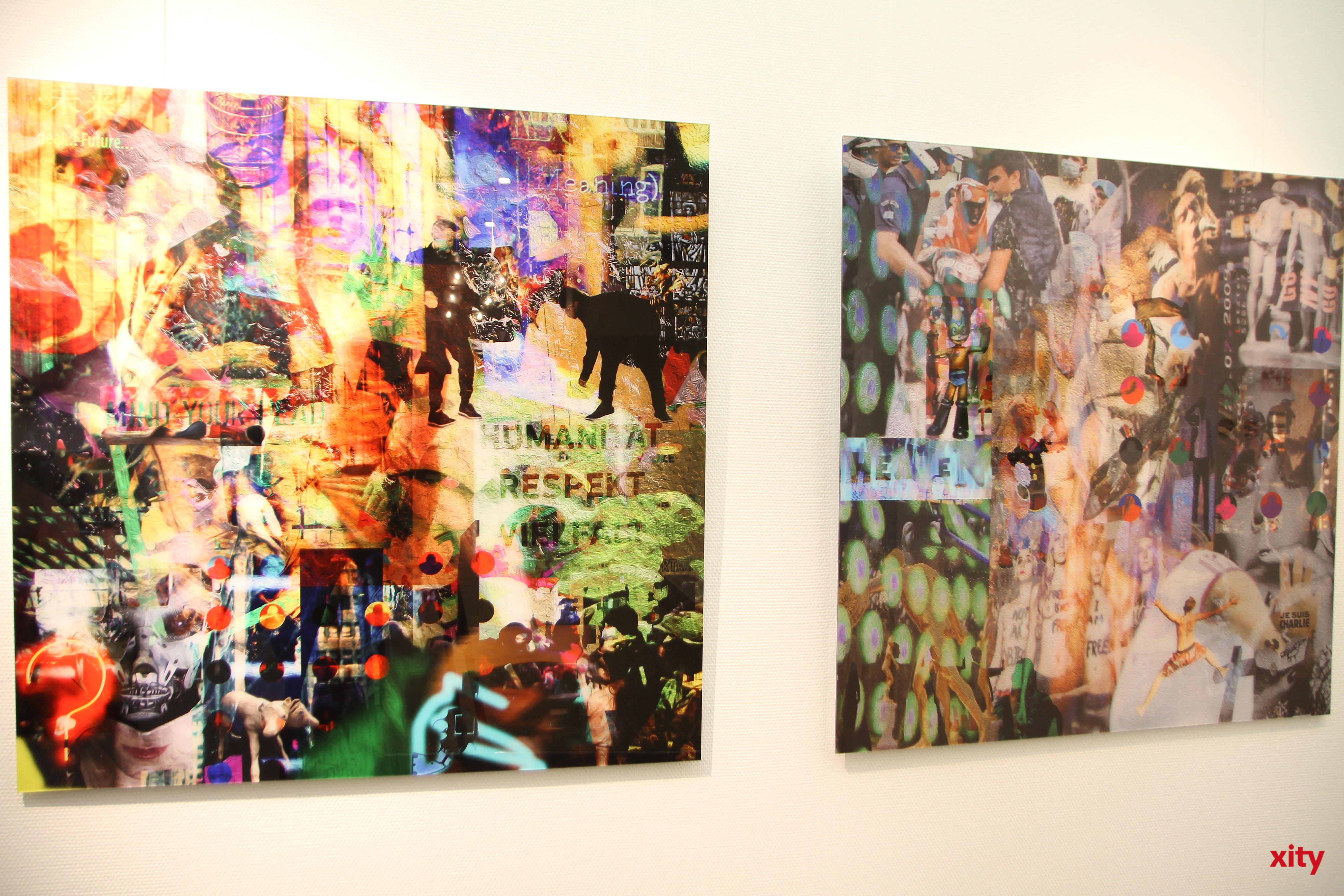 Yuens Werke sind voller Kontrast und knalligen Farben (Foto: xity)