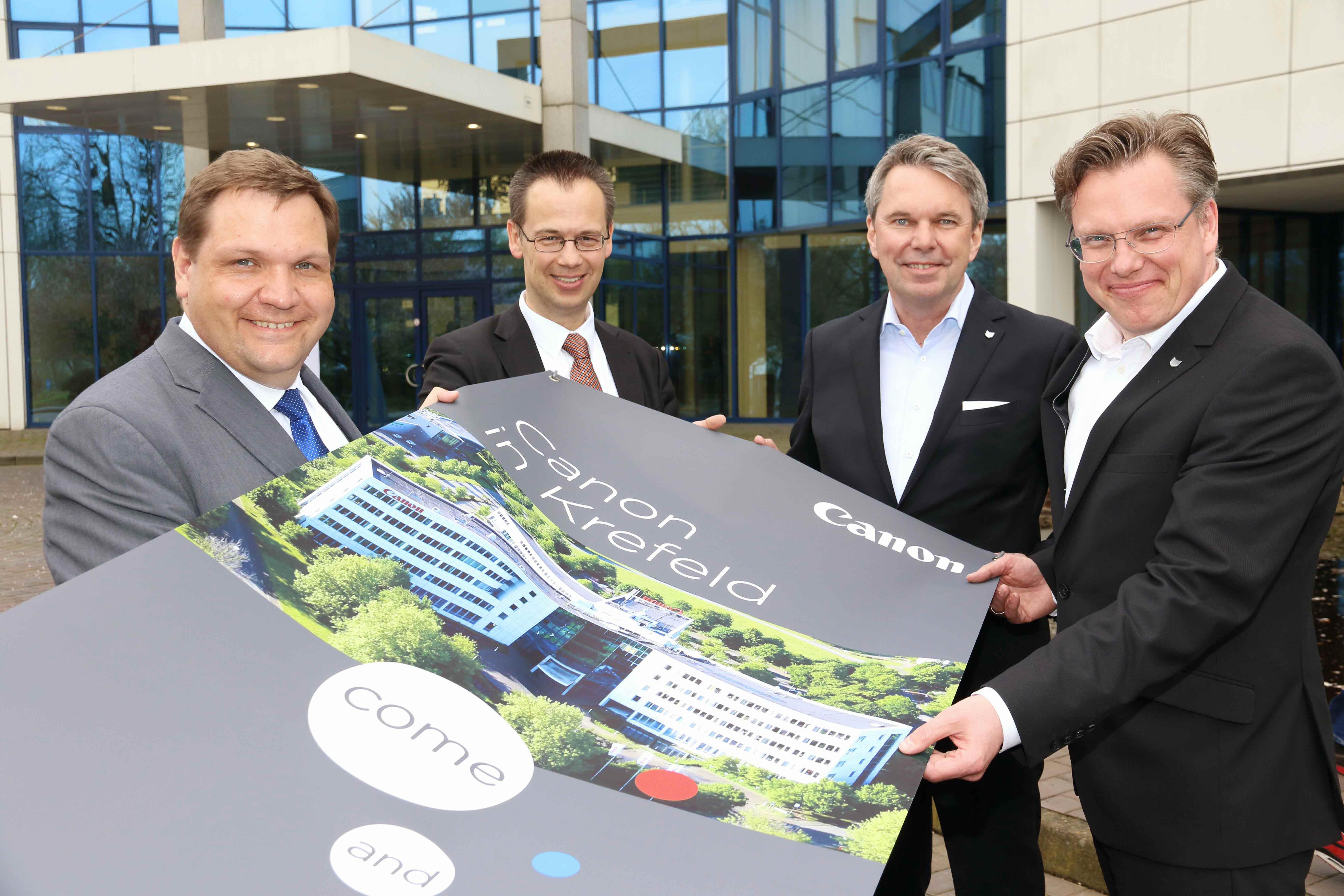 Canon Deutschland baut Hauptsitz aus und zieht 250 Mitarbeiter nach Krefeld (Foto: Stadt Krefeld, L. Strücken)