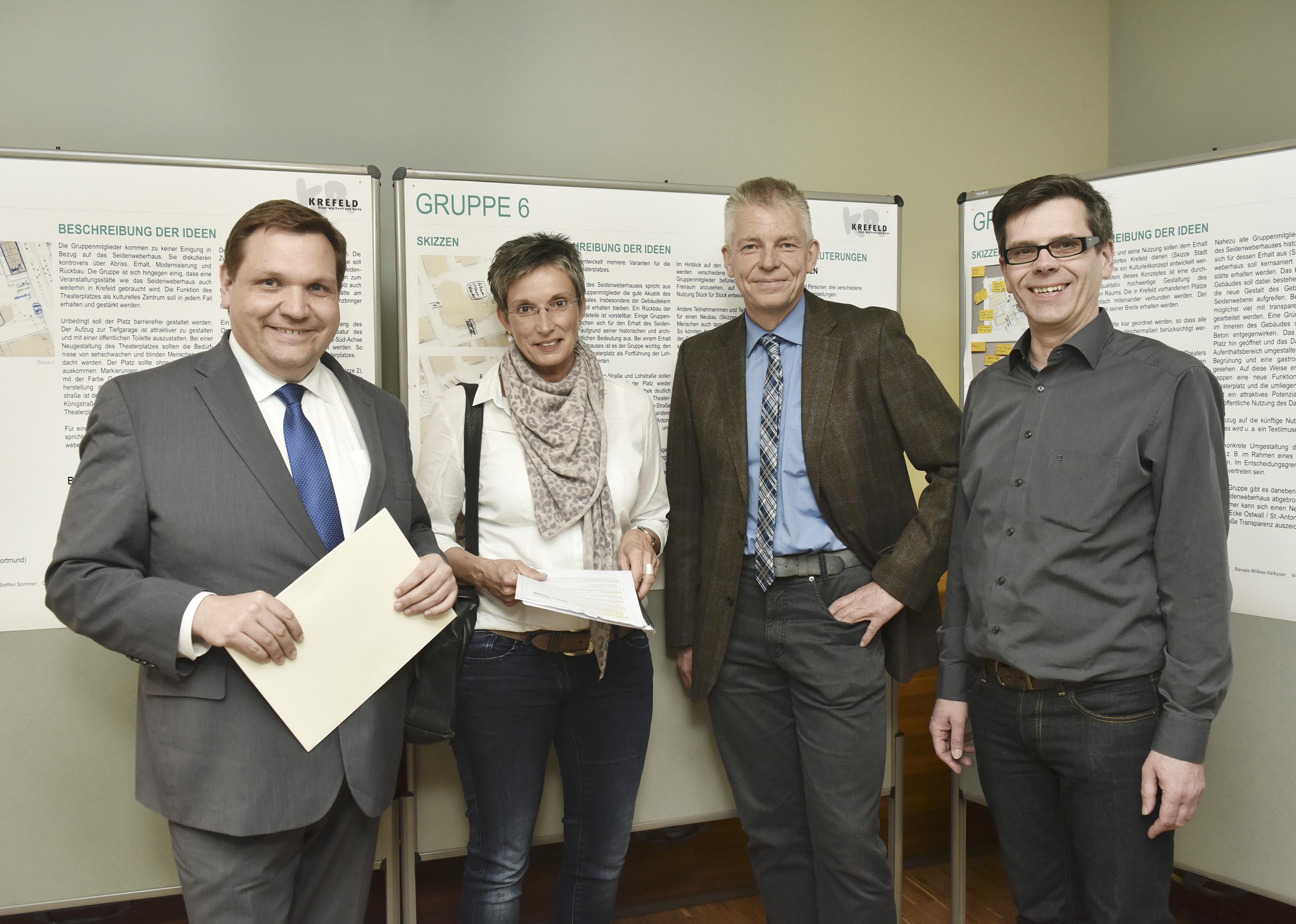 Bürgerwerkstatt-Ausstellung über das Seidenweberhaus und sein Umfeld (Foto: Stadt Krefeld)