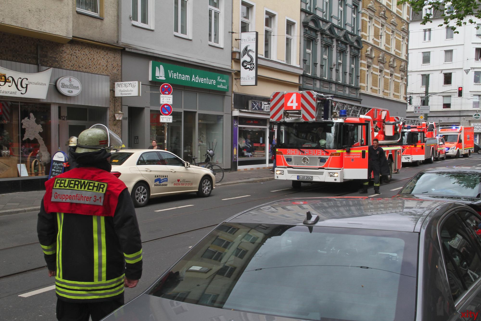 Während des Feuerwehreinsatzes war die Friedrichstraße teilweise gesperrt (Foto: xity)