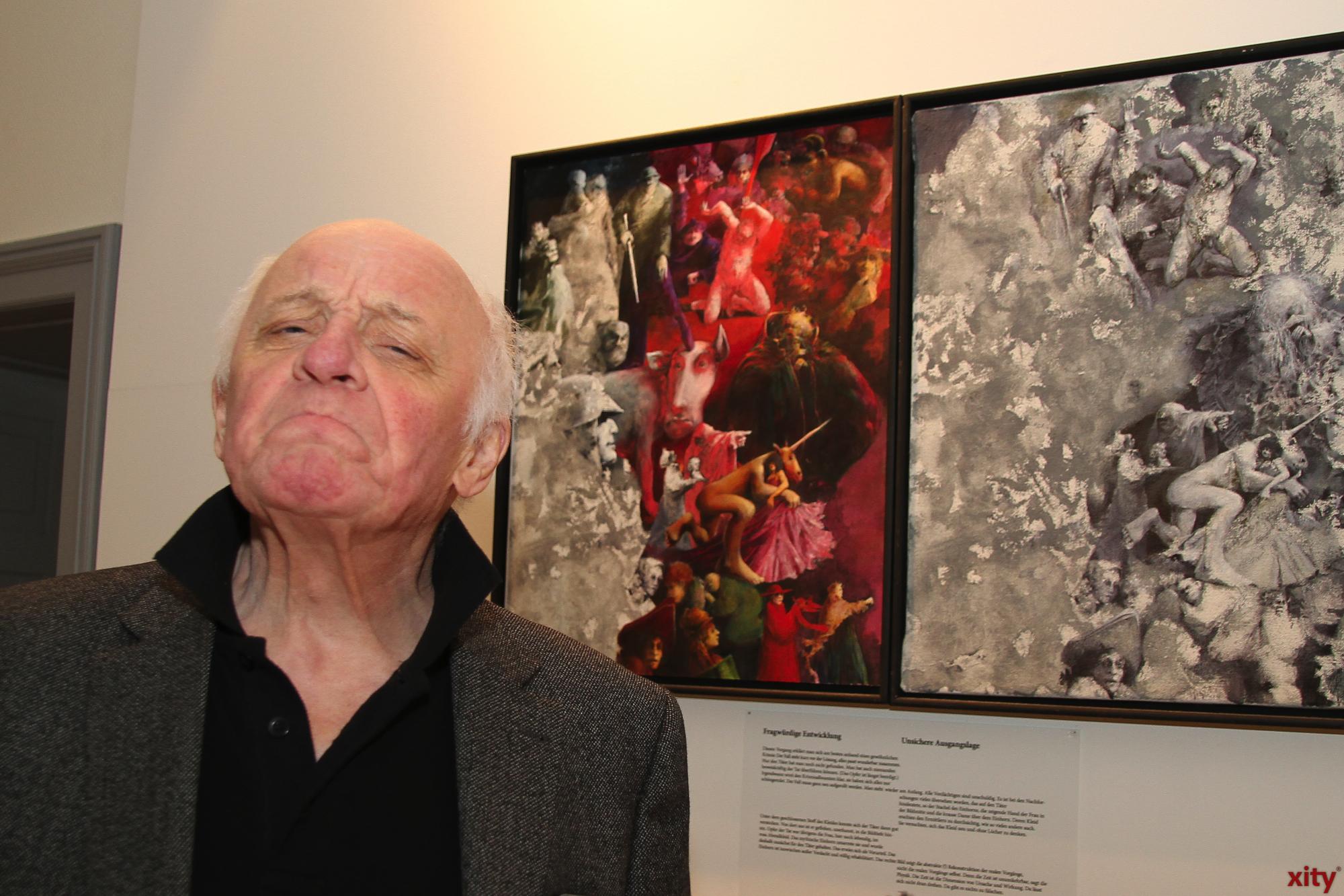 Da ist sich selbst der Künstler unsicher: Sind die Bilder Fälschungen? (Foto: xity)