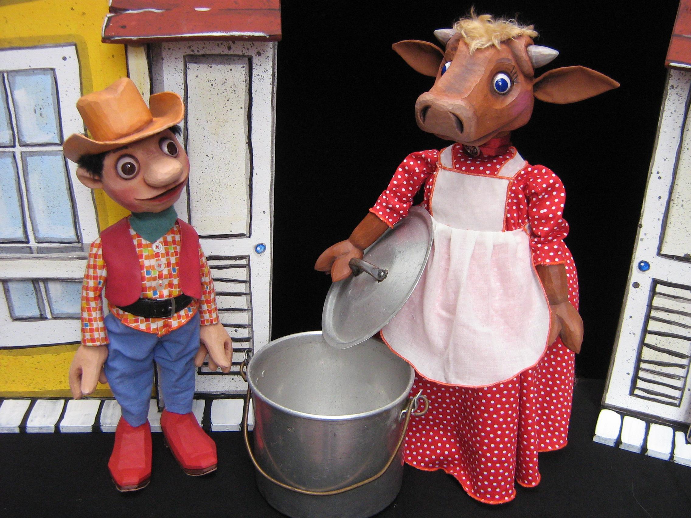 """""""Cowboy Billy und das singende Pony"""" (Foto: Puppentheater Helmholtzstraße)"""
