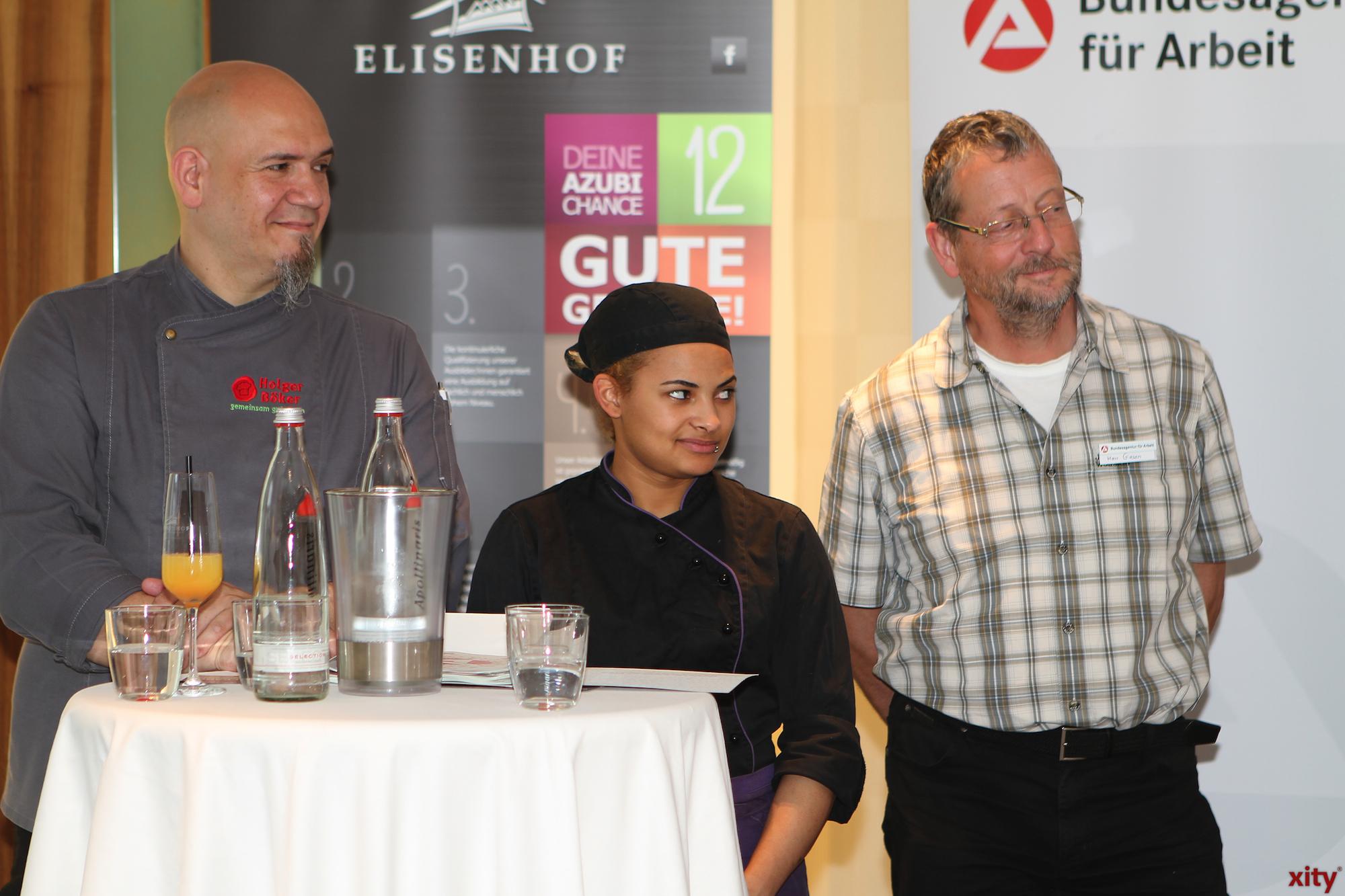 (mitte) Samantha Weegen (Köchin im 3. Ausbildungsjahr im Restaurant Richard Wagner) (Foto: xity)