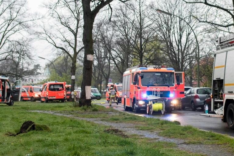 Feuer in geplanter Flüchtlingsunterkunft in Münster (© 2016 AFP)