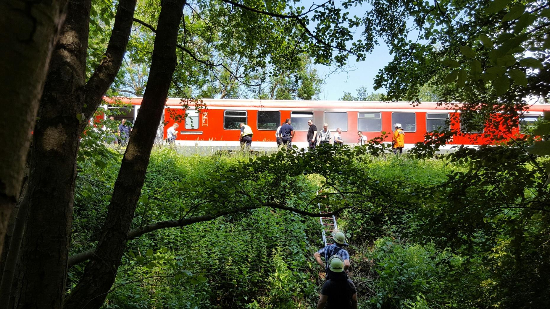 Brand in Regionalzug (Foto: OTS)