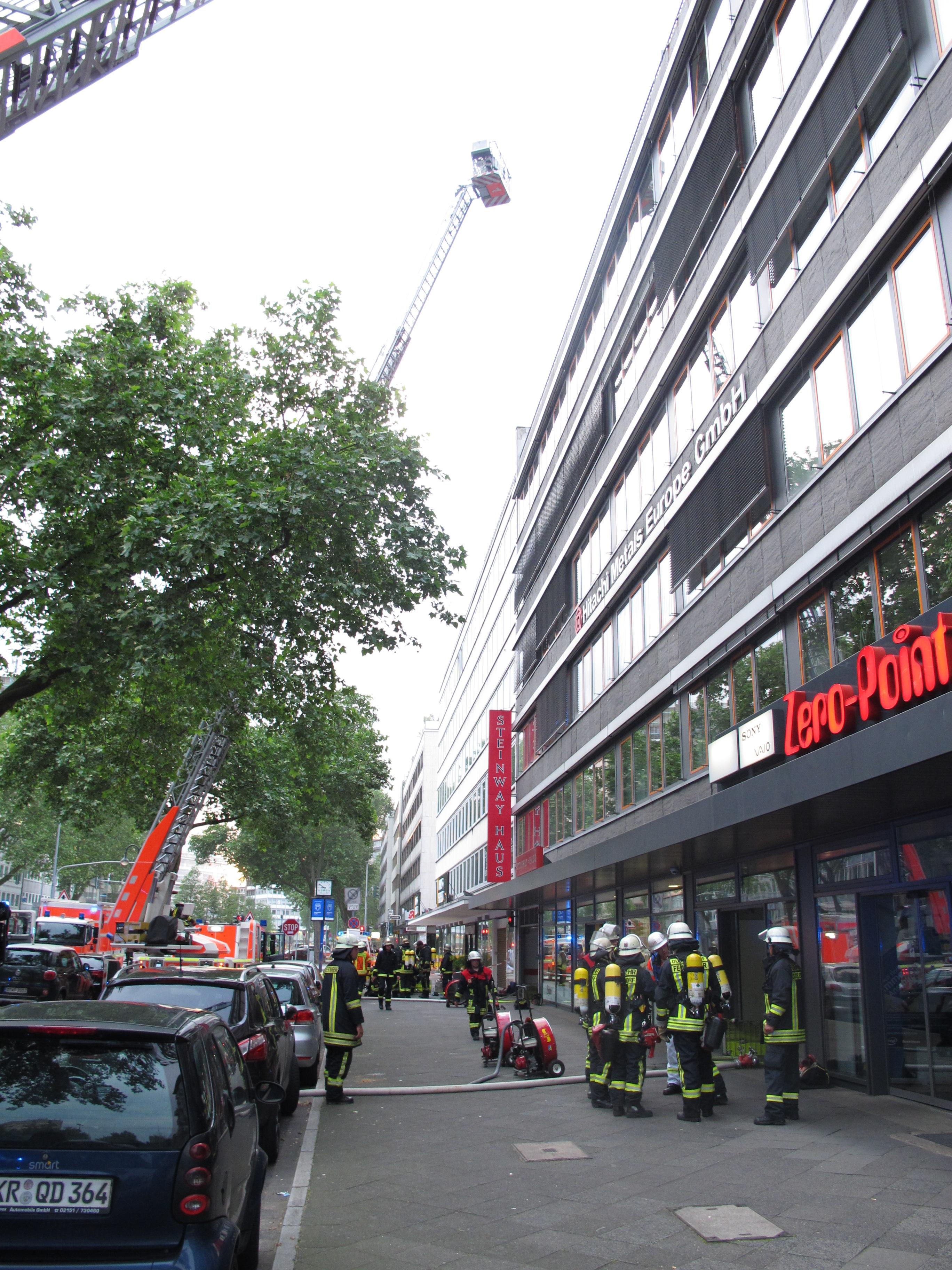 Außenansicht der Einsatzstelle(Foto: Feuerwehr Düsseldorf)
