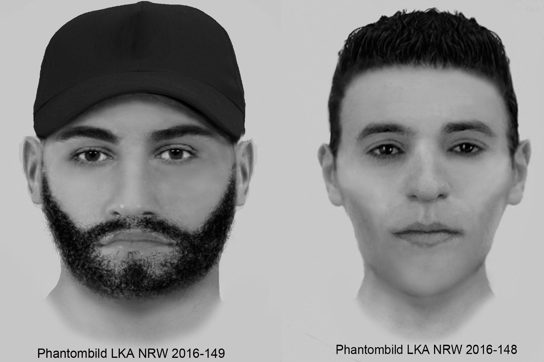 Phantombilder der Tatverdächtigen veröffentlicht (Foto: LKA NRW)