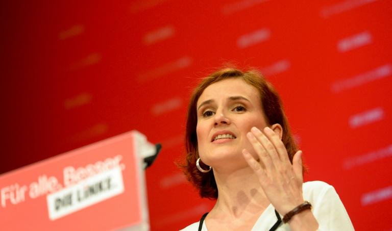 Kipping kritisiert Bilderberg-Konferenz in Dresden (© 2016 AFP)