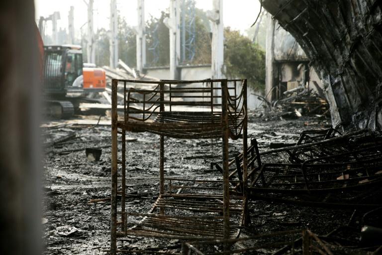 Zehn Millionen Euro Schaden durch Brand in Düsseldorfer Flüchtlingsunterkunft (© 2016 AFP)