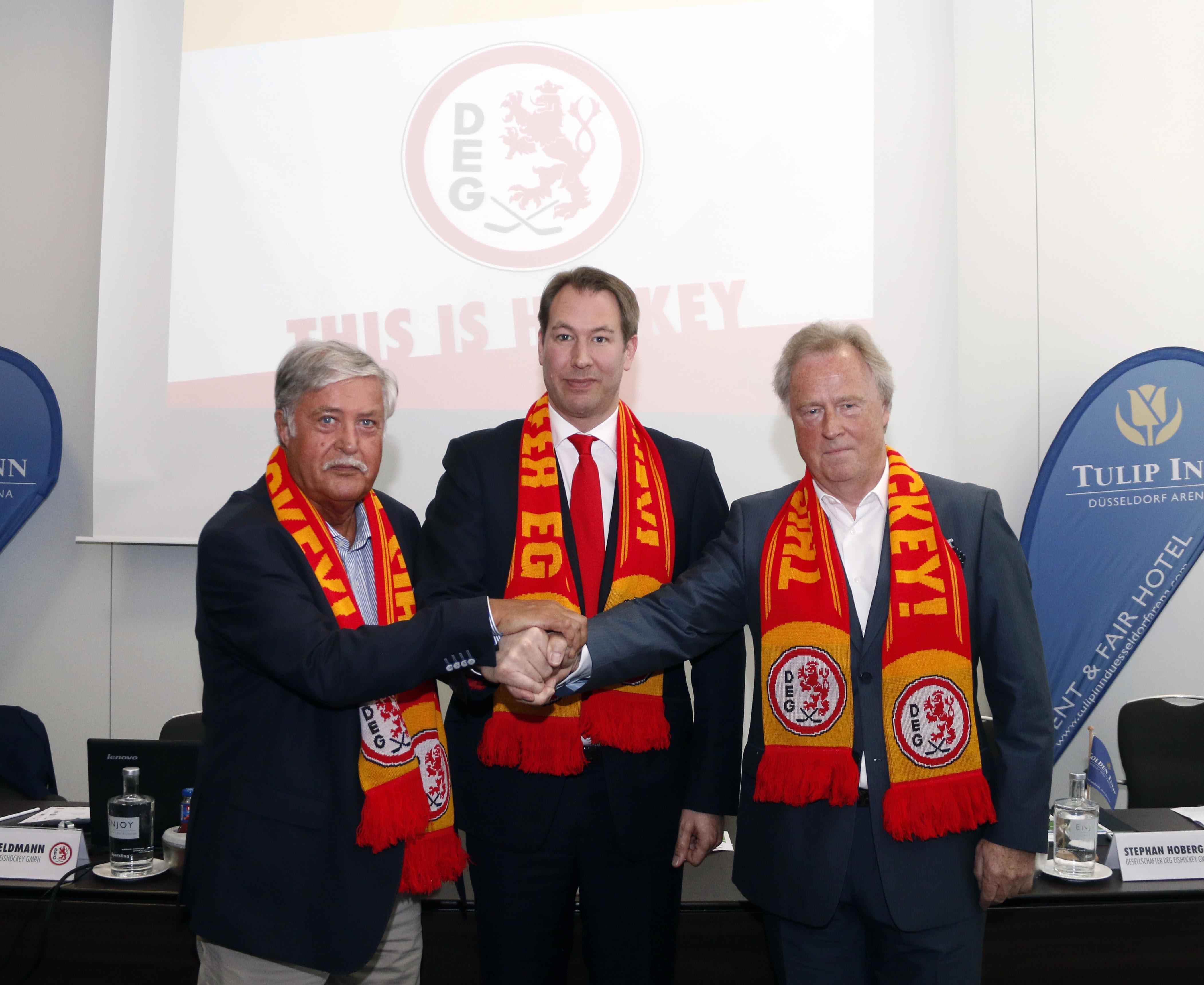 Peter Völkel, Stefan Adam und Stephan Hoberg (Foto: Düsseldorfer EG)