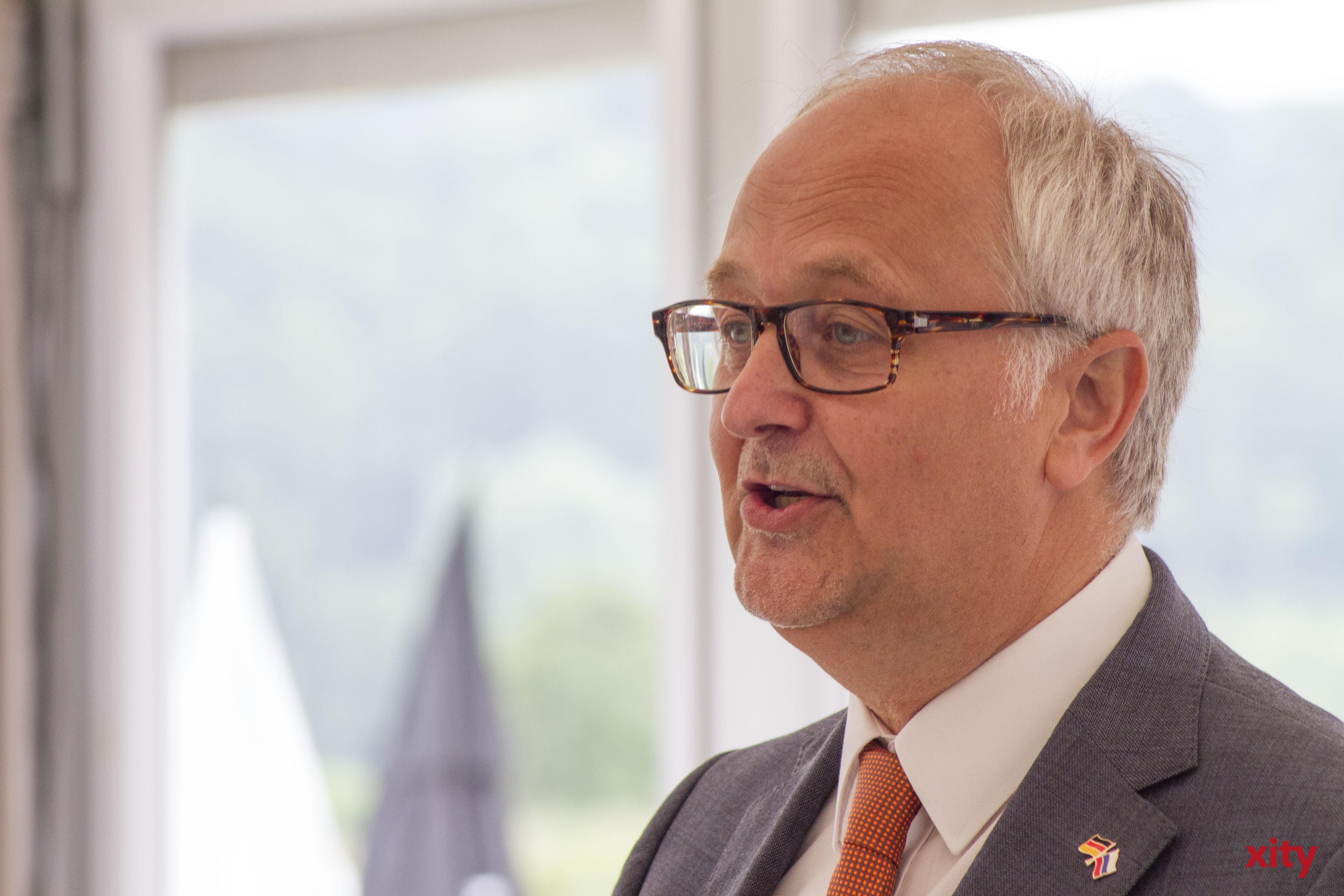 Vereinspräsident Stefan Brune begrüßte die Gäste (Foto: xity)