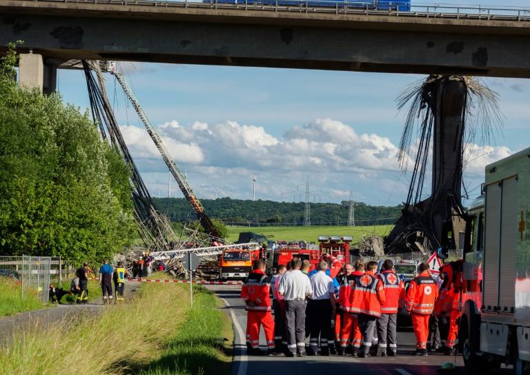 Ein Toter und sechs Schwerverletzte bei Baustellenunfall an Autobahn A7 (© 2016 AFP)